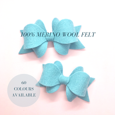 Merino wool felt, Franchibow ,  hair bow