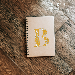Personalised Liberty of London, Capel Mustard, A5 Ruled Note Book