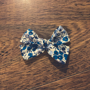 Liberty of London, Wiltshire berry navy, Hand tied hair bow