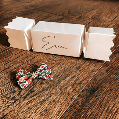 Luxury Personalised cracker mystery bow box