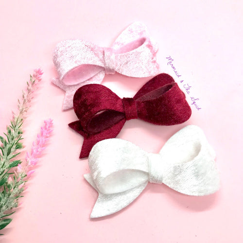 Crushed Velvet Sophia hair bow