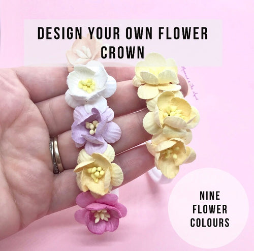 Design your own cherry blossom flower crown