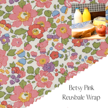 Load image into Gallery viewer, Liberty of London, Betsy Pink , bees wax reusable wrap