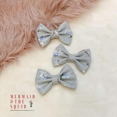 Liberty of London, Winterborne Lawn Grey, Classic Hair Bow