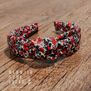 Liberty of London, Betsy Anne red, knotted headband