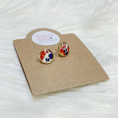 Liberty of London, Betsy Anne red, Earrings