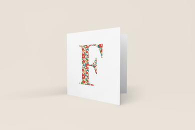 Liberty of London, personalised Greetings card, Betsy Anne Red
