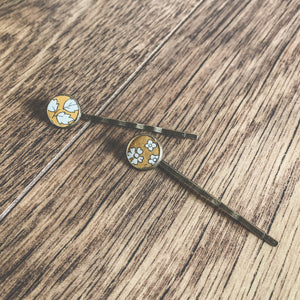 Liberty of London, hair pins, Capel mustard