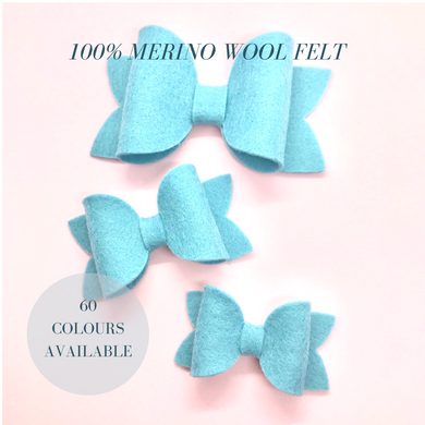Merino wool felt beauty bow