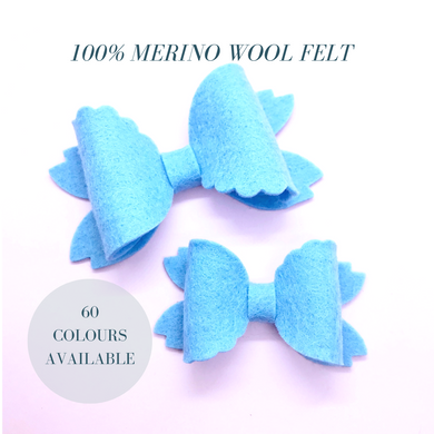 Merino wool felt, Mermaid,  hair bow