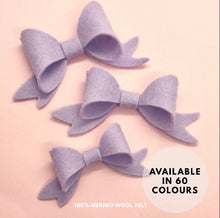 Load image into Gallery viewer, Wool Felt Beau hair bow