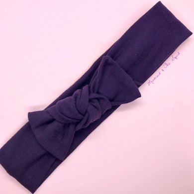 Damson Top knot headband