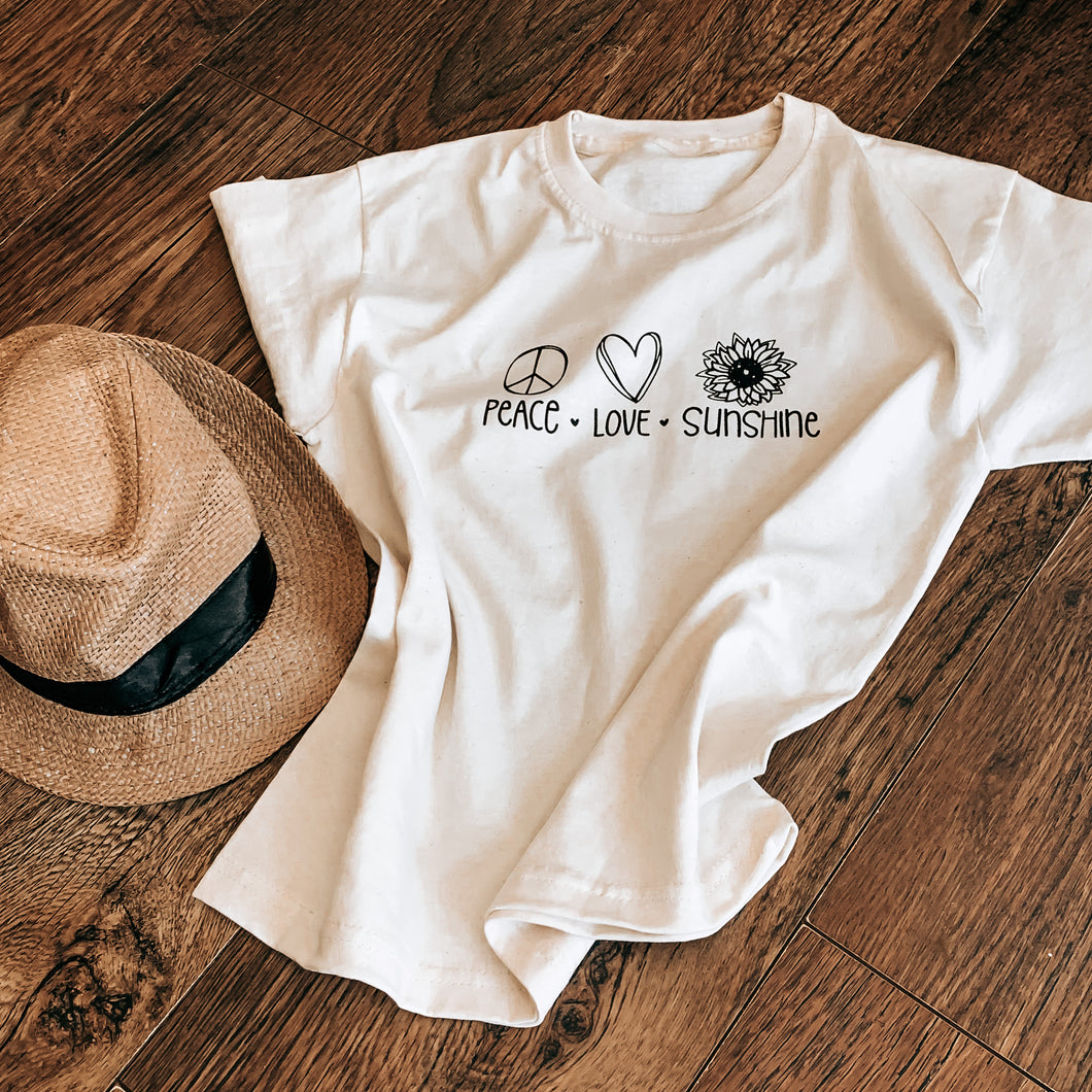Peace Love Sunshine, T-Shirt infant