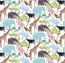 Load image into Gallery viewer, Liberty of London, Queue for the zoo - personalised liberty appliqué - Adult