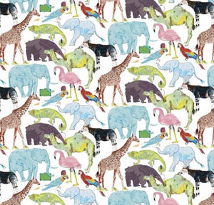 Liberty of London, Queue for the zoo - personalised liberty appliqué - Adult