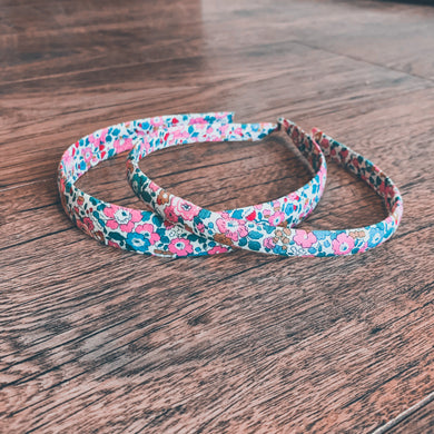Liberty of London, Betsy Anne dark pink , Alice Band