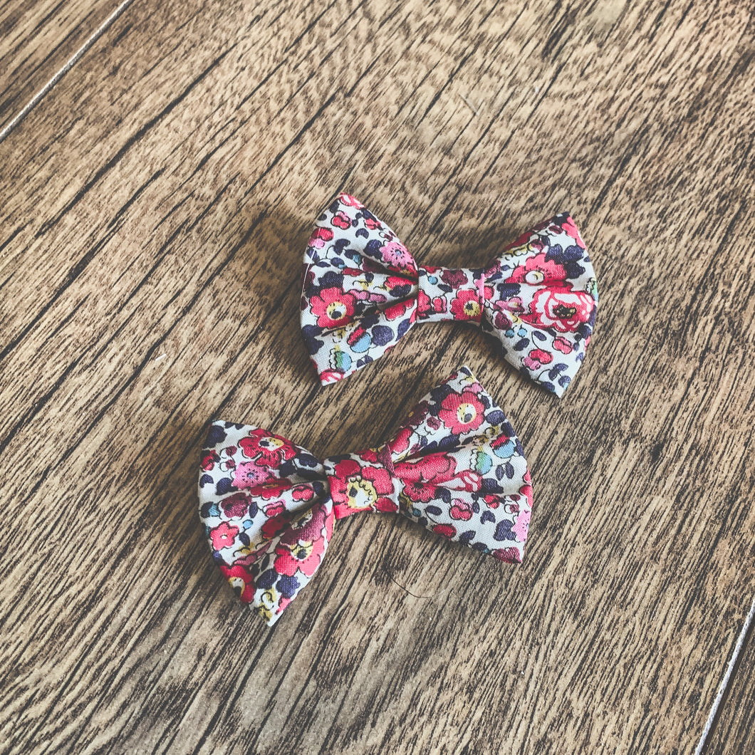 Liberty of London, Betsy anne red, Classic Hair Bow