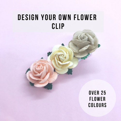 Design your own rose flower clip