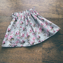 Load image into Gallery viewer, Garden Pride- silver, Ruffle top skirt