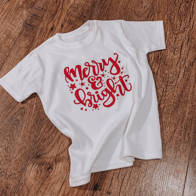 Merry & Bright Christmas t-shirt