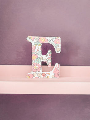 Liberty of London fabric covered freestanding letter