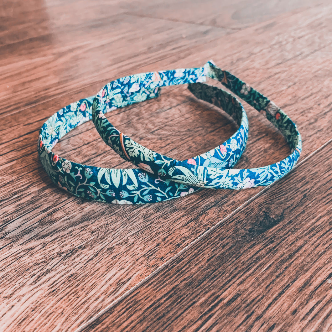 Liberty of London, Strawberry thief green , Alice Band