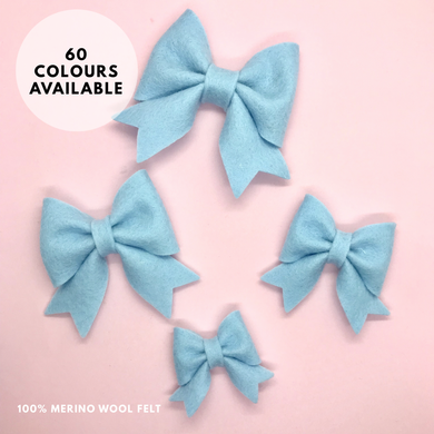 Merino wool felt Cutie pie hair bow