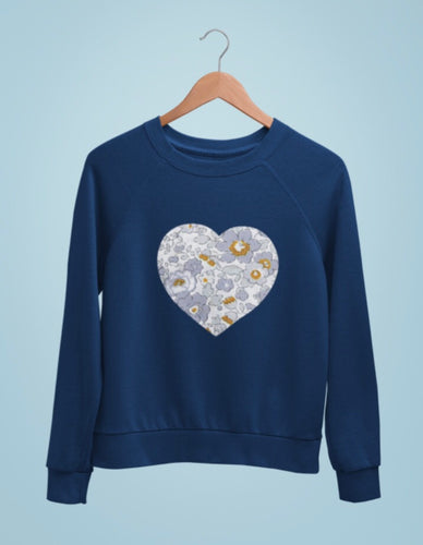 Liberty of London infant personalised heart sweatshirt