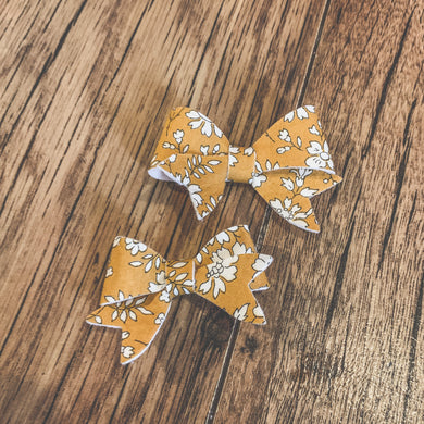 Liberty of London, little lovely hair bows, Capel mustard