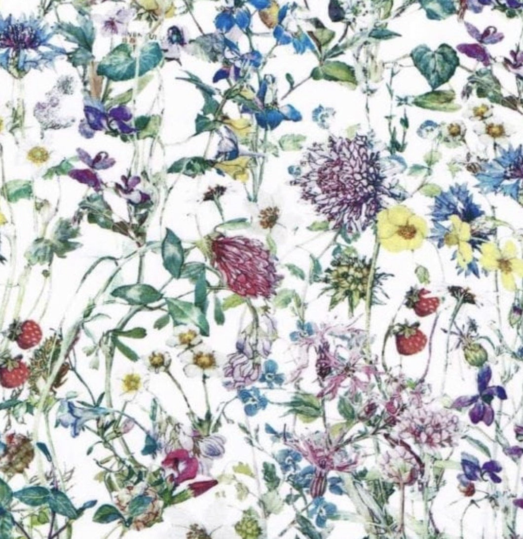 Liberty of London, Wild flowers colour - personalised liberty appliqué - Adult