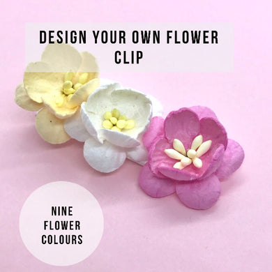 Design your own cherry blossom flower clip