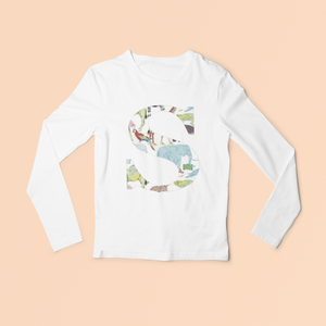 Liberty of London, Queue for the zoo - personalised liberty appliqué - Infant