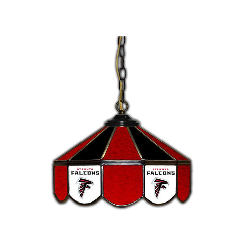 Atlanta Falcons 14 Inch Stained Glass Pub Light