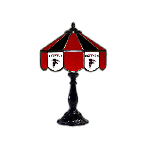 Atlanta Falcons 21 Inch Glass Table Lamp