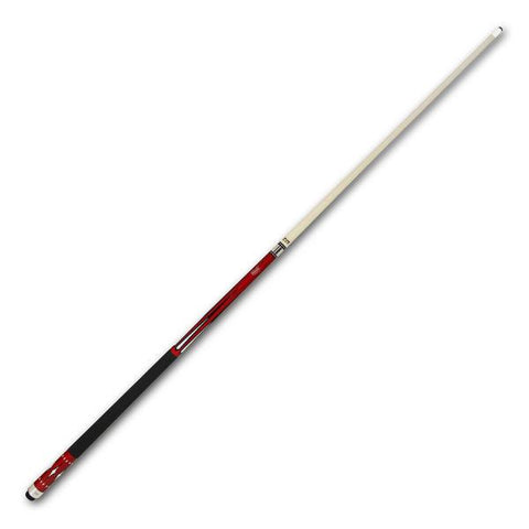 Cuetec Starlight Series 58 Inch Two Piece Cue - Red and White