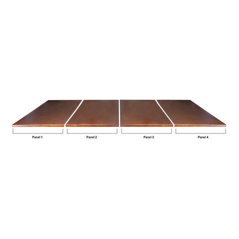 Imperial USA Imperial 7 Foot Conversion Dining Top - Antique Walnut Dimensions