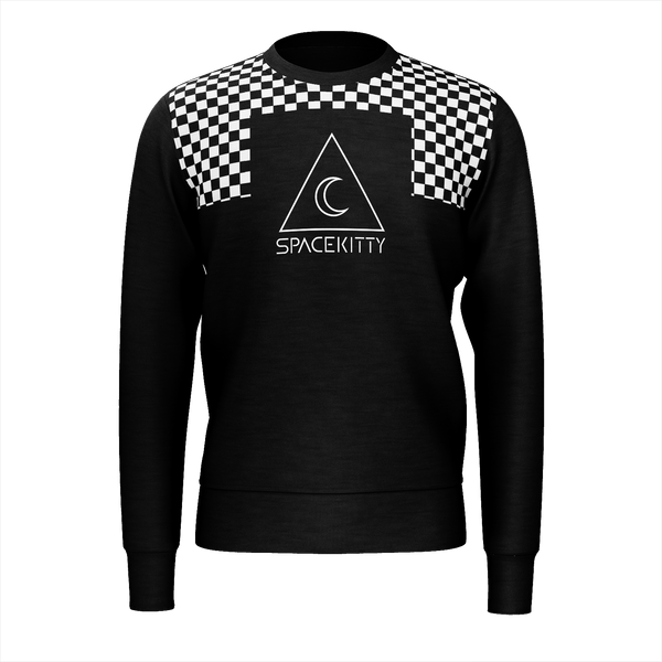 SpaceKittyCo Checkered Jumper/Sweatshirt, E-Girl/E-Boy Jumpers/Sweatshirts, Alternative Fashion Brand