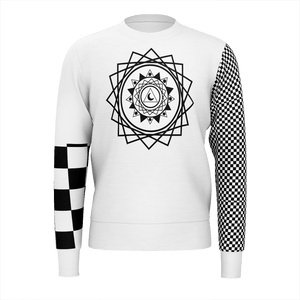 SpaceKittyCo Black & White Checkered Balance Jumper/Sweatshirt, E-Girl/E-Boy Jumpers/Sweatshirts, Alternative Fashion Brand
