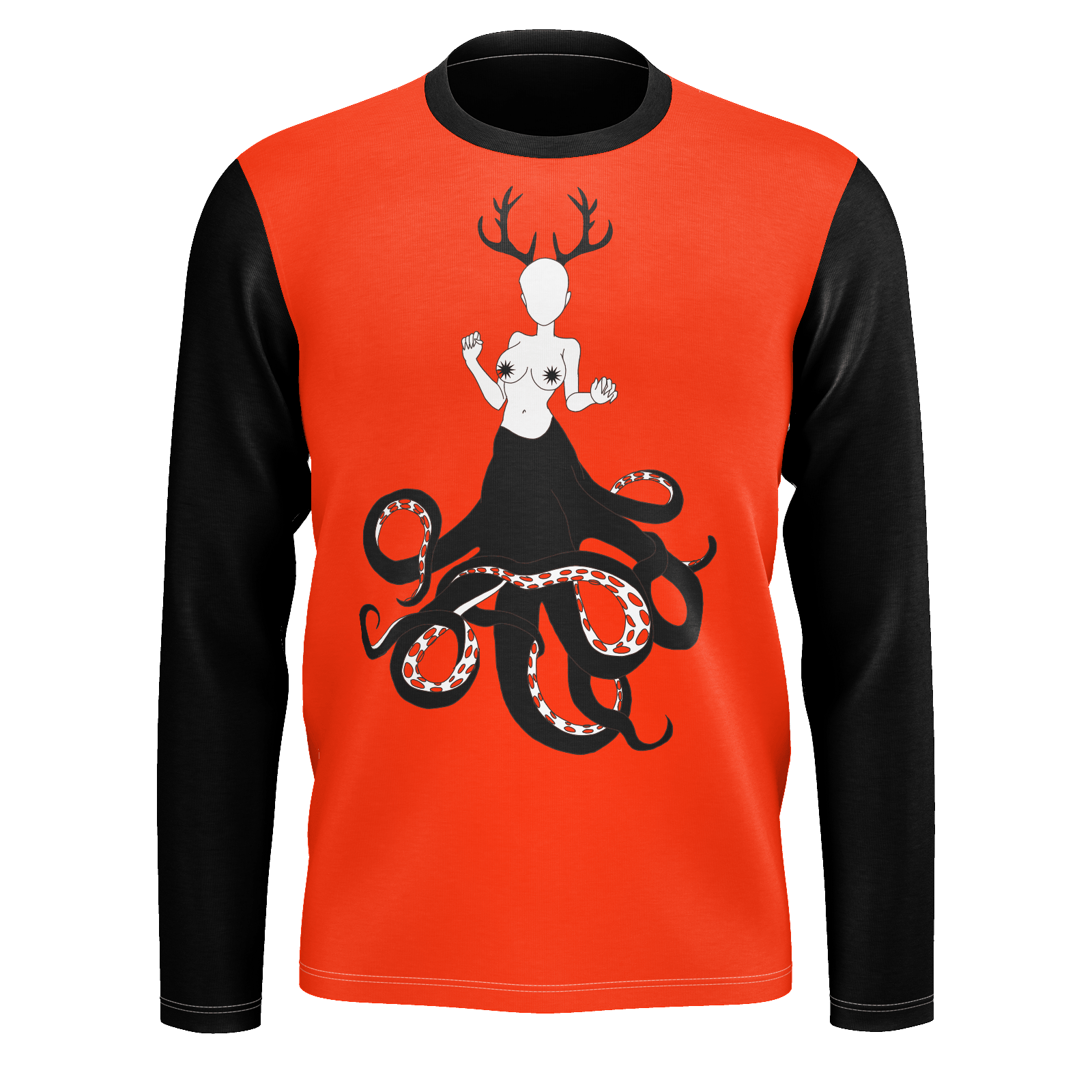 SpaceKittyCo Bloody Alien Trash Long Sleeve T-Shirt, E-Girl/E-Boy Fashion, Alternative Clothing Brand Grunge Fashion