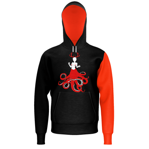 SpaceKittyCo Bloody Alien Trash Hoodie, E-Girl/E-Boy Hoodie, Alternative Fashion Brand