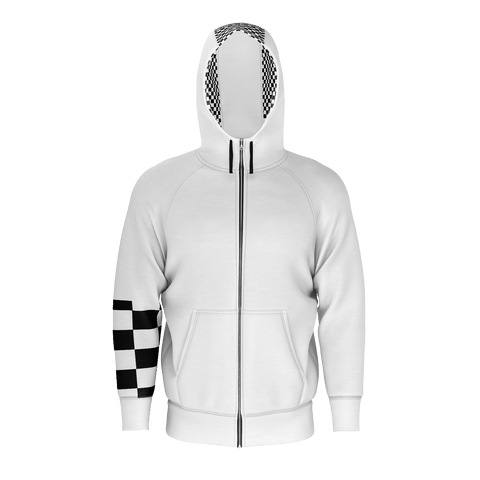 SpaceKittyCo Black & White Checkered Wood Witch Hoodie, E-Girl/E-Boy Hoodie, Alternative Fashion Brand