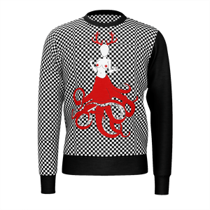 Bloody Trash Checkered Jumper/Sweatshirt, E-Girl/E-Boy Jumpers/Sweatshirts, Alternative Fashion Brand