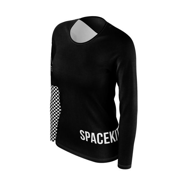SpaceKittyCo Checkered Long Sleeve T-Shirt, E-Girl/E-Boy Fashion, Alternative Clothing Brand Grunge Fashion