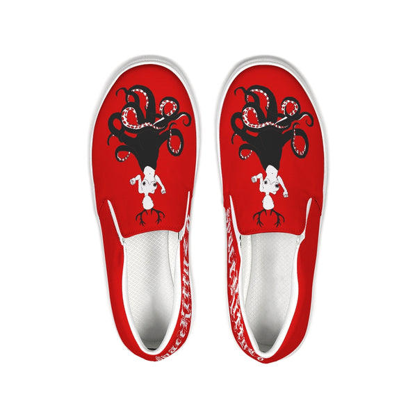 Bloody Alien Trash Slip On Canvas Shoes, E-Girl/E-Boy Shoes, Alternative Fashion Brand
