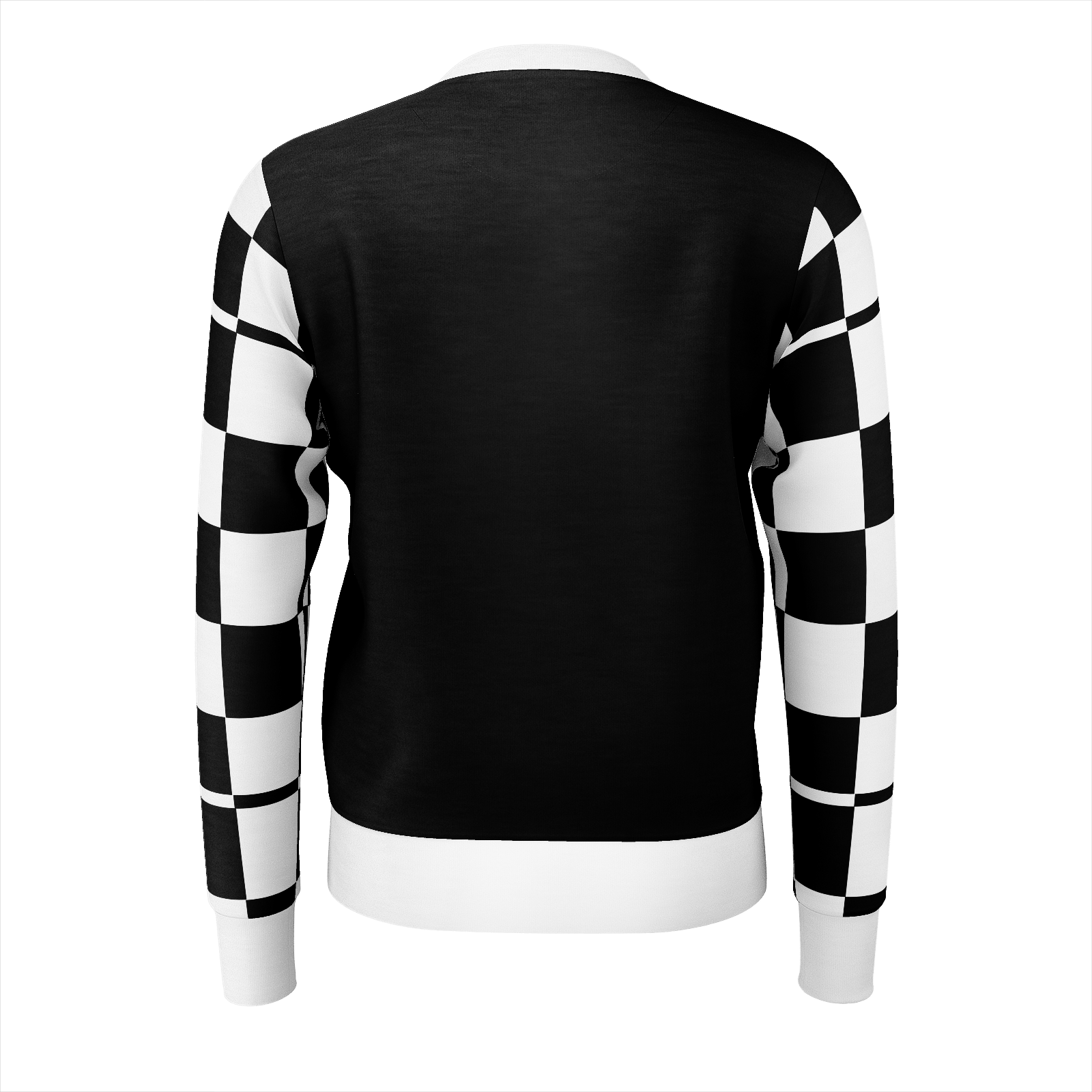 Tear Blood Checkered Sleeve Jumper
