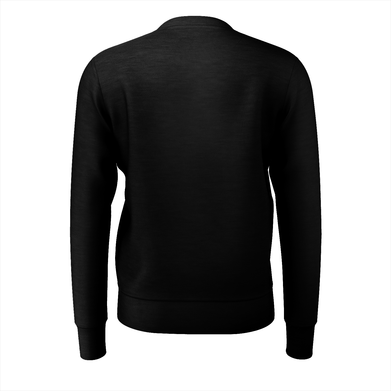 Check Collar Black Jumper