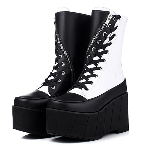 Punk Platform Boots, E-Girl/E-Boy Fashion, Alternative Clothing Brand Grunge Fashion