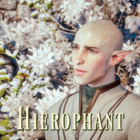 Hierophant / Dragon Age Solas (Crisp green floral, leafy ferns, misty ocean air, soft woods, amber)