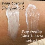 Body custard - choose your fragrance (pumpkin seed oil, vegan, cruelty-free)