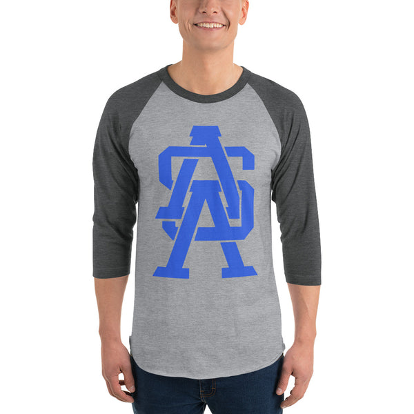 ASA Monogram - 3/4 Sleeve Baseball Tee